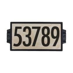 """6""""x12"""" Sandy Stone Address Plaque"""