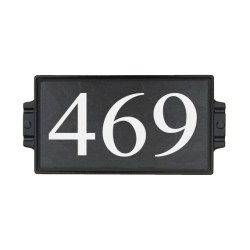 "6""x12"" Charcoal Stone Address Plaque"