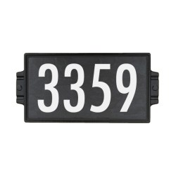"6""x12"" Charcoal Stone Address Plaque"