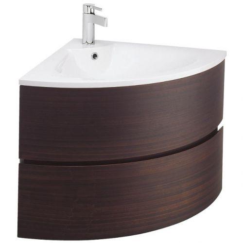 bauhaus svelte eucalyptus veneer corner vanity unit basin