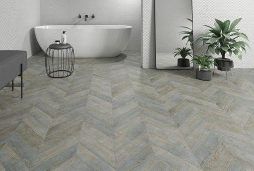 chevron wood aqua floor tile 85 x 395