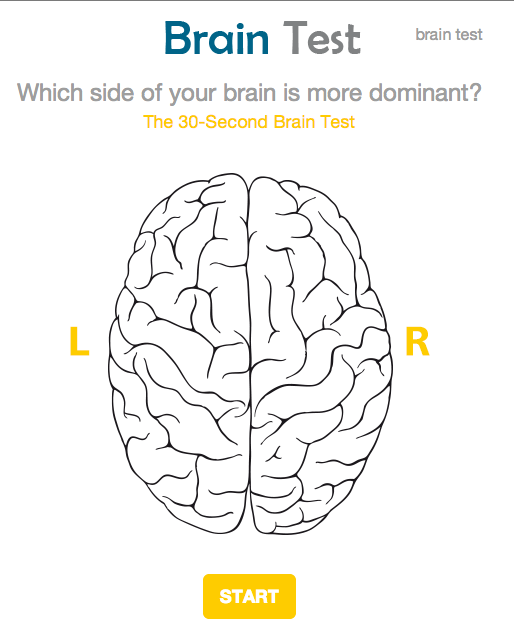 Test which side of your brain you use the most.
