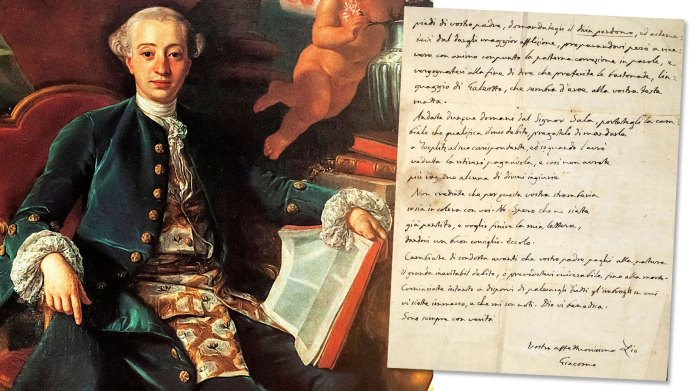 Uncovered Casanova note is no love letter | News | The Times