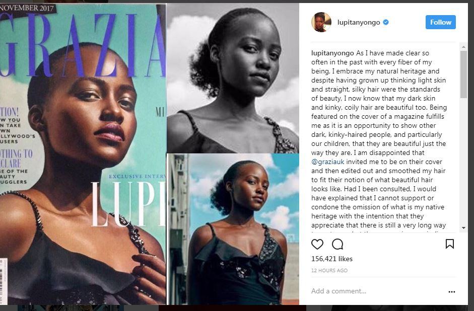 Oscar-winning Lupita Nyong'o accuses Grazia of prejudice over ...