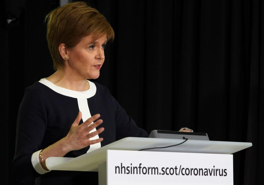 Nicola Sturgeon confirmed the government was considering allowing gatherings of up to ten people