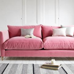 Pink Sofas Fillmore Sofa Arhaus Top 10 Home The Sunday Times Loaf S Flopster Comes In Five Sizes From Armchair To Large This Medium Model 1 575 Is Dressed Dusty Rose Clever Velvet Fabric