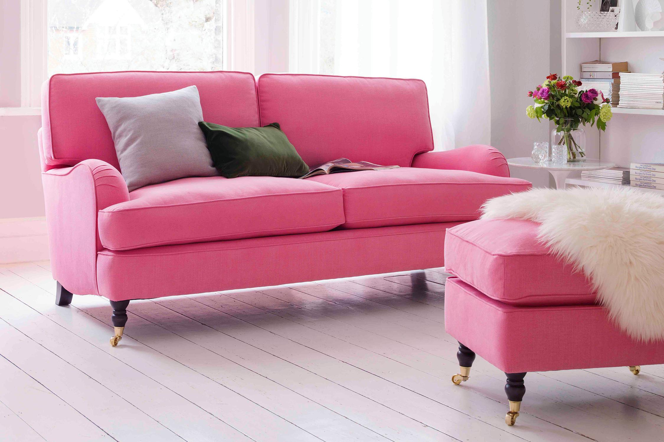 pink sofas dark brown leather sofa ebay top 10 home the sunday times space saving and super cosy l shaped is a popular choice for smaller rooms this com s whitby asymmetrical corner w223cm in blush