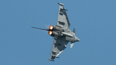 An RAF Typhoon fighter jet dropped a 500lb bomb during a firefight in Syria last month