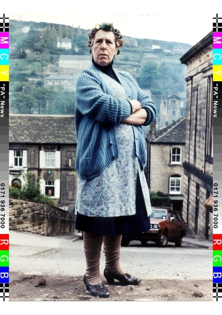 Kathy Staff's Nora Batty from Last of the Summer Wine was no-nonsense