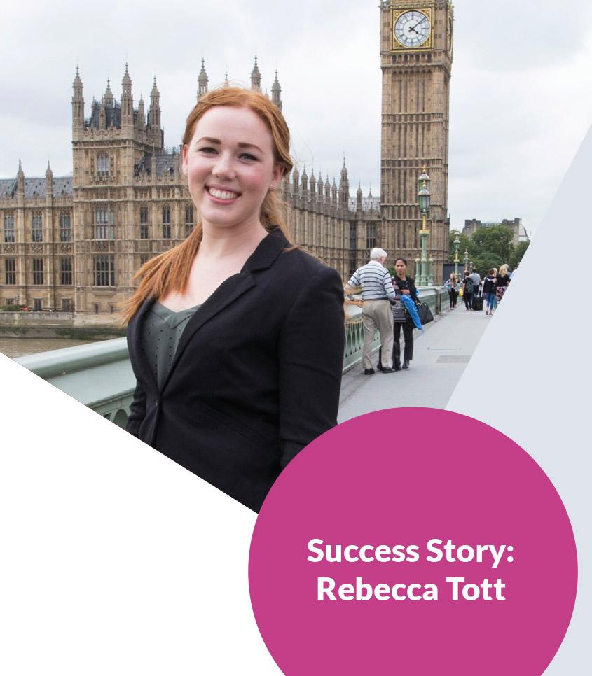 Rebecca Tott featured in a poster for a civil service apprenticeship scheme