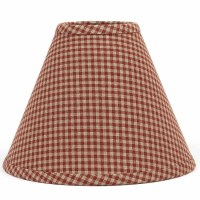 "Newbury Gingham Lampshade 10"" Regular Clip"