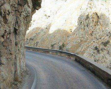 On some parts of the road, rocks cover your car... Going to Elafonisi, Crete