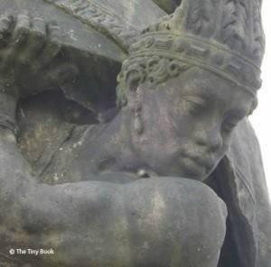 A statue over Charles Bridge