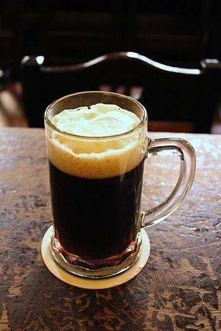 Glass of Dark Beer (Nove Mĕsto Beer Hall).                         ®Øyvind Holmstad.
