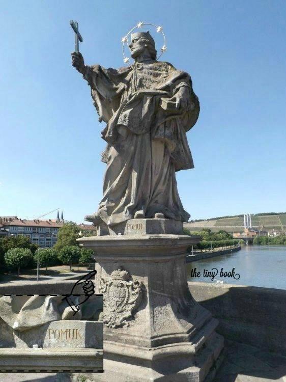 John of Nepomuk on the Alte Mainbrücke, Würzburg.