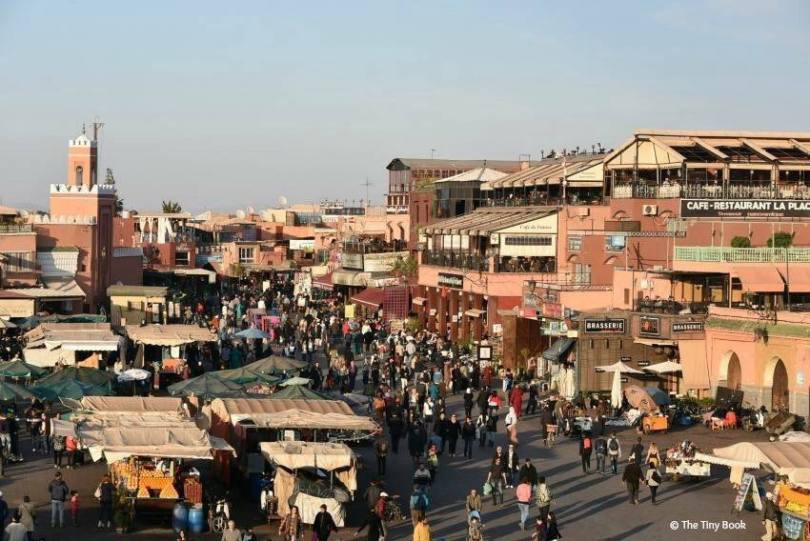 Place Jemaa el Fnaa in the afternoon, Marrakech.