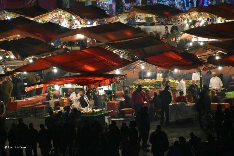 Food stands at night. Place Jma el Fnaa, Marrakech