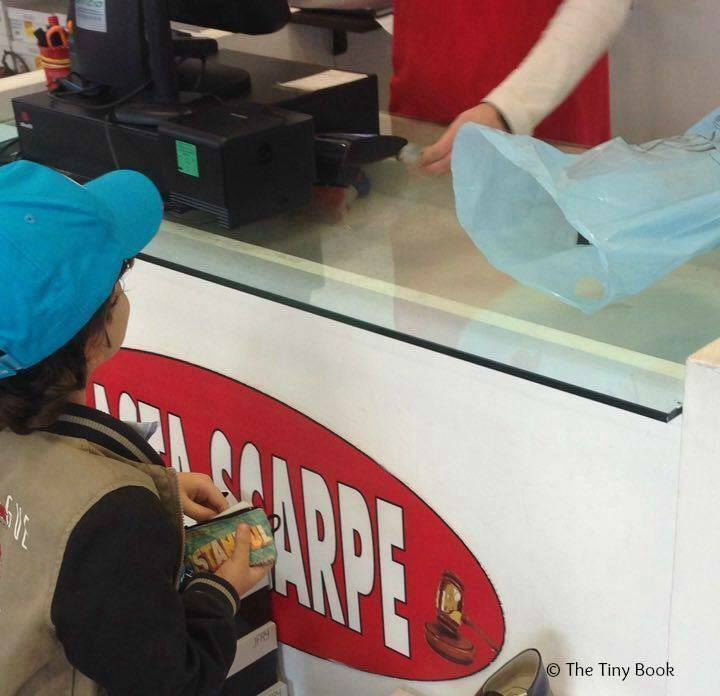 Buying a pair of shoes with my savings. The importance of travel for children