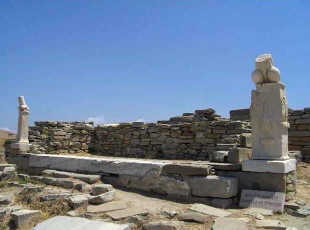 Archeological site, Delos, Greece.
