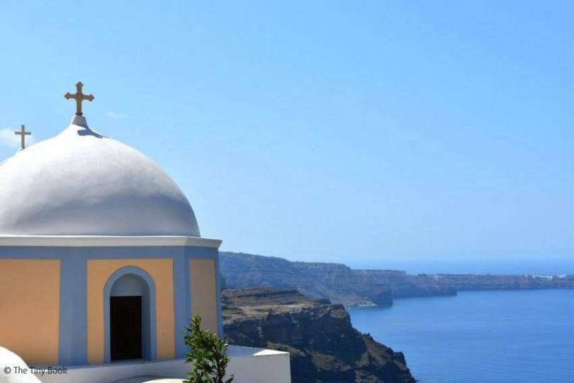 Domes in Thira. Santorini dreamy photo destination
