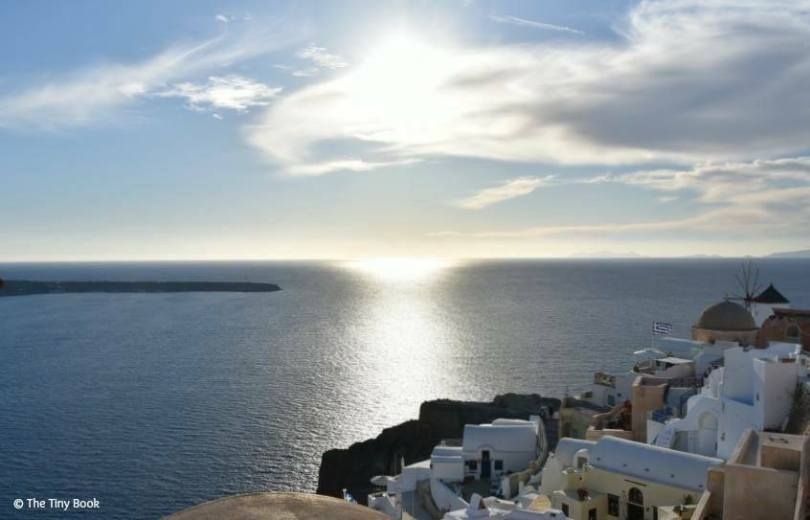 Sunset in Oia, amazing Santorini.Santorini dreamy photo destination