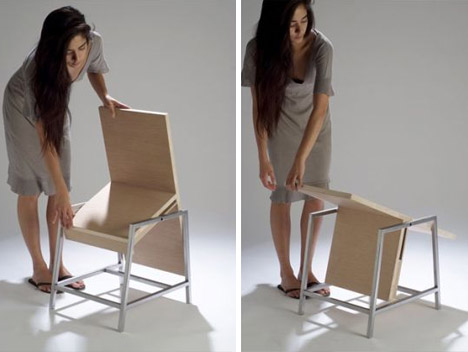 foldable chair plans natural wood rail multi use furniture | the tiny life