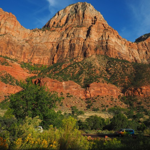An inside the canyon view, Zion National Park, Utah