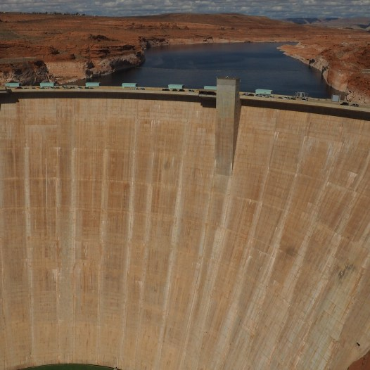 The dam at Lake Powell