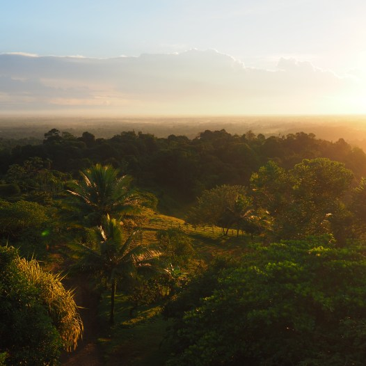 View from the Mirador at sunset