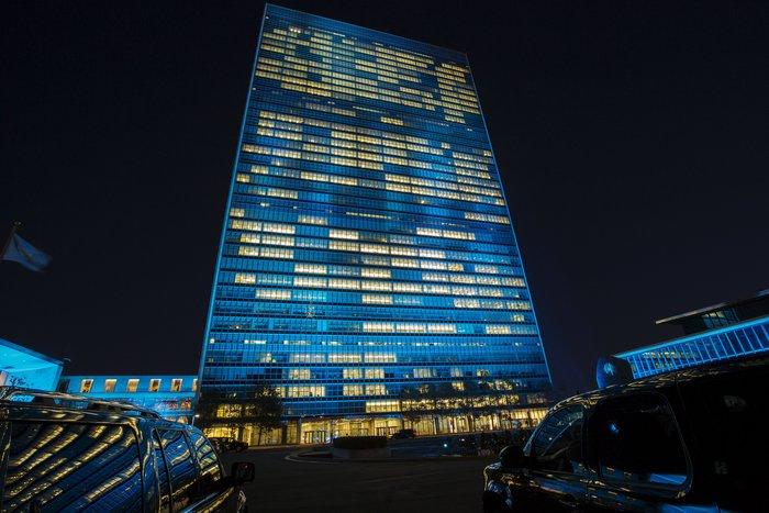 Το κτήριο του ΟΗΕ στη Ν. Υόρκη