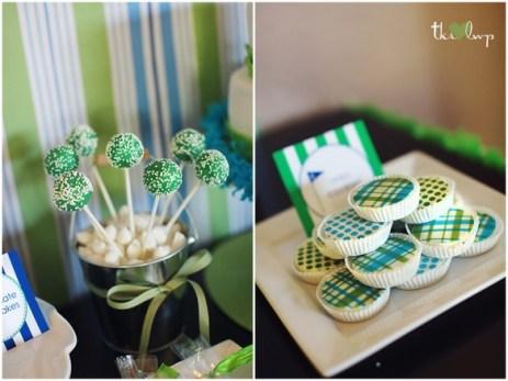 cup cake com tema de golf
