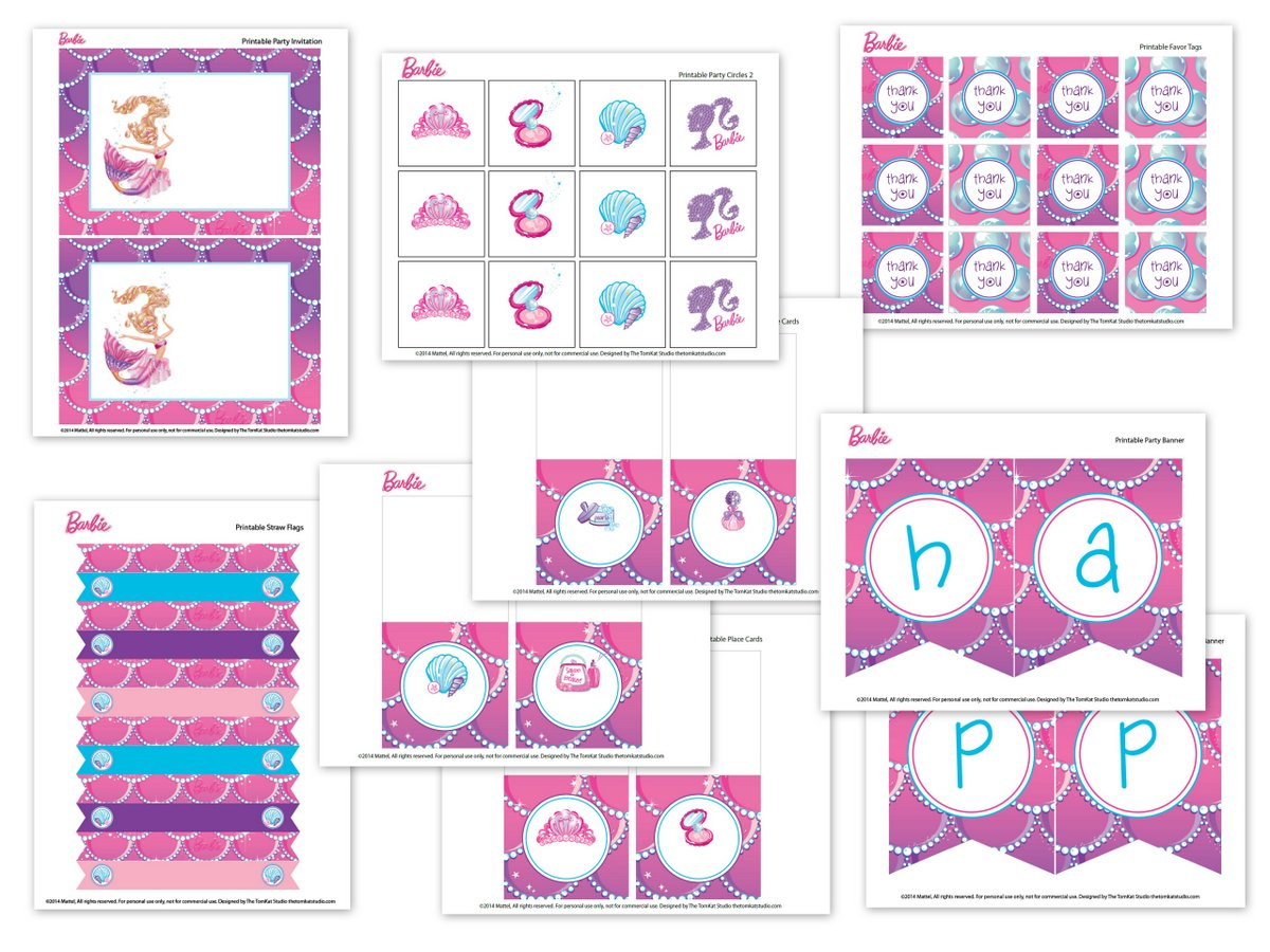 Worksheet Printable Barbie Miniatures