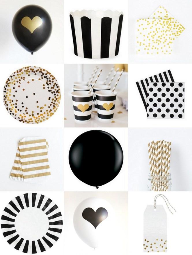 Black White Party Decorations