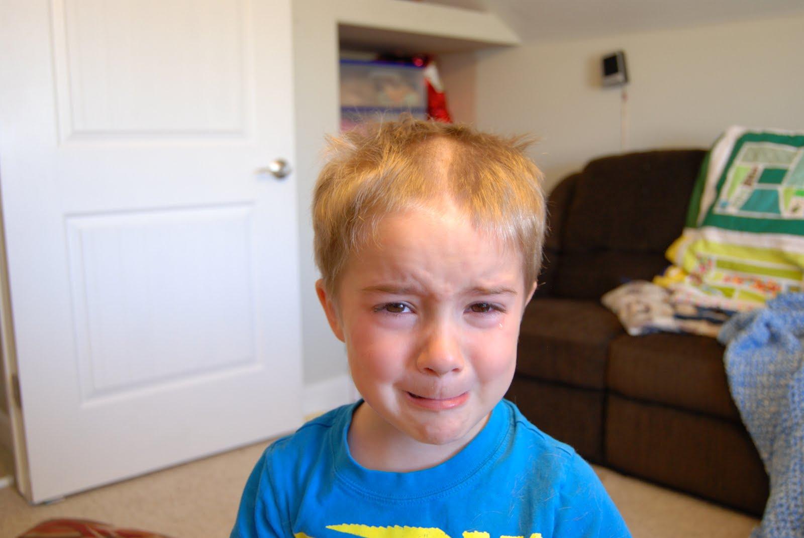 Children Who Have Cut Their Own Hair Badly