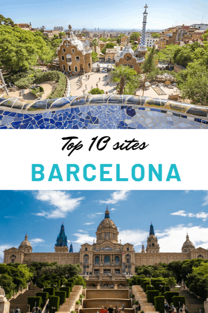 Top 10 sites in Barcelona. The best things to see in Barcelona. Travel Barcelona. Visit Barcelona. #Barcelona #Spain