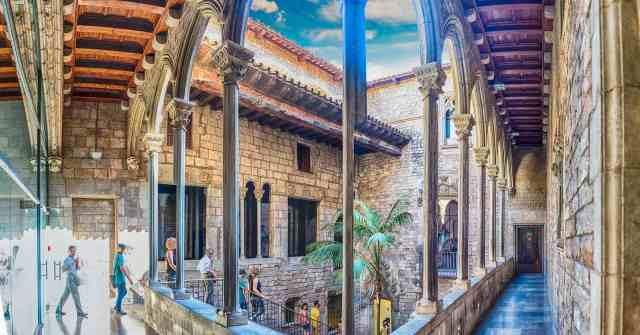 Inner courtyard of Picasso Museum - cultural sites in barcelona and one of barcelona must sees