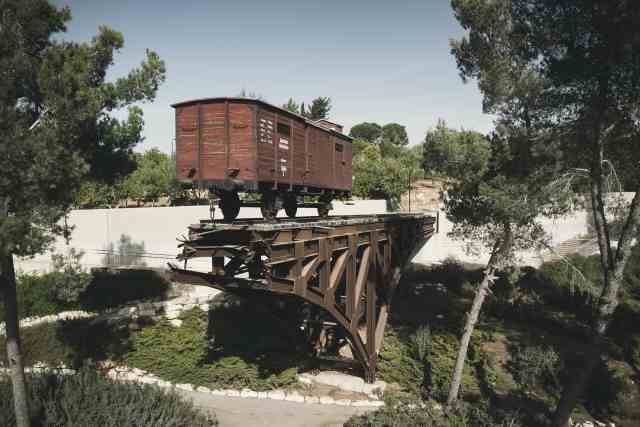 Train Car used by the Nazid during the Holocaust in Yad Vashem - things to do in new city jerusalem