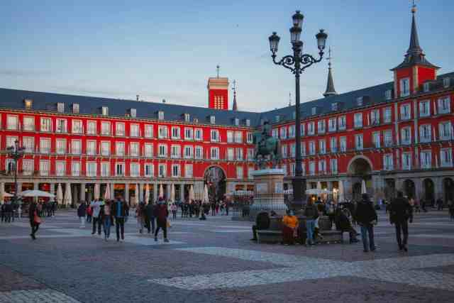 Plaza Mayor. places to visit in madrid and a must see in madrid when visiting madrid