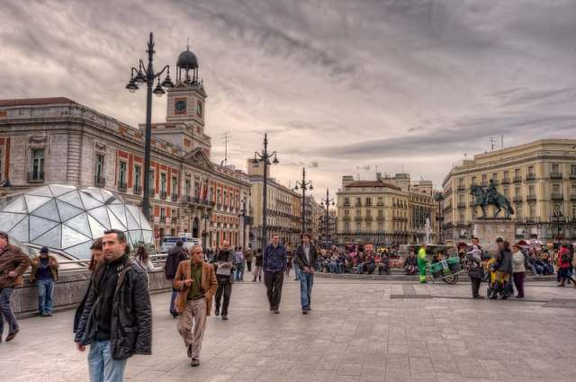 Purta Del Sol. must see madrid. places to visit madrid. things to see madrid