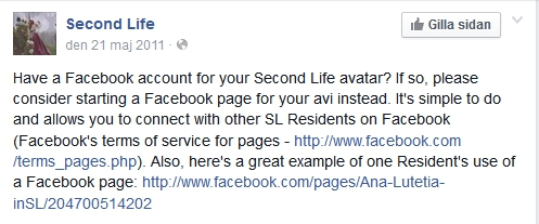 SL Facebook Page Recommendation