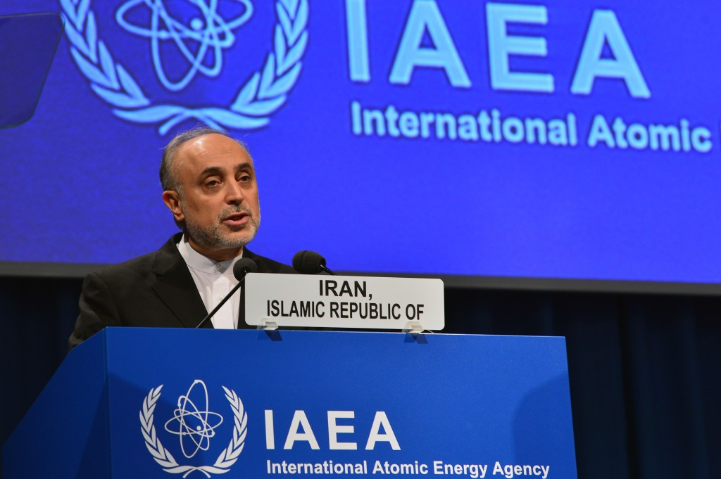 Ali Akbar Salehi, president of the Atomic Energy Organization of Iran, speaks at the International Atomic Energy Agency General Conference, September 16, 2013. Photo: Dean Calma / IAEA / flickr