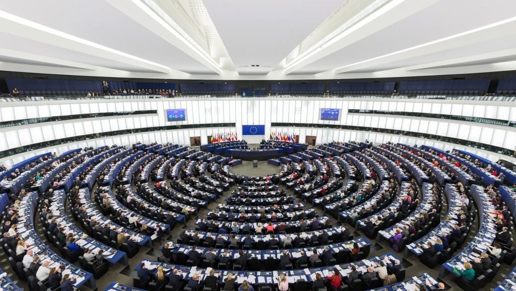 The European Parliament chamber in Strasbourg. Photo: David Iliff / Wikimedia