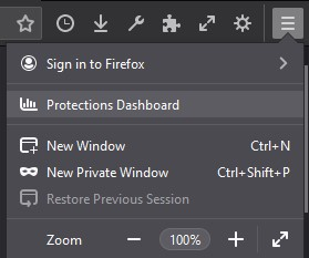 Firefox Protection Dashboard Access