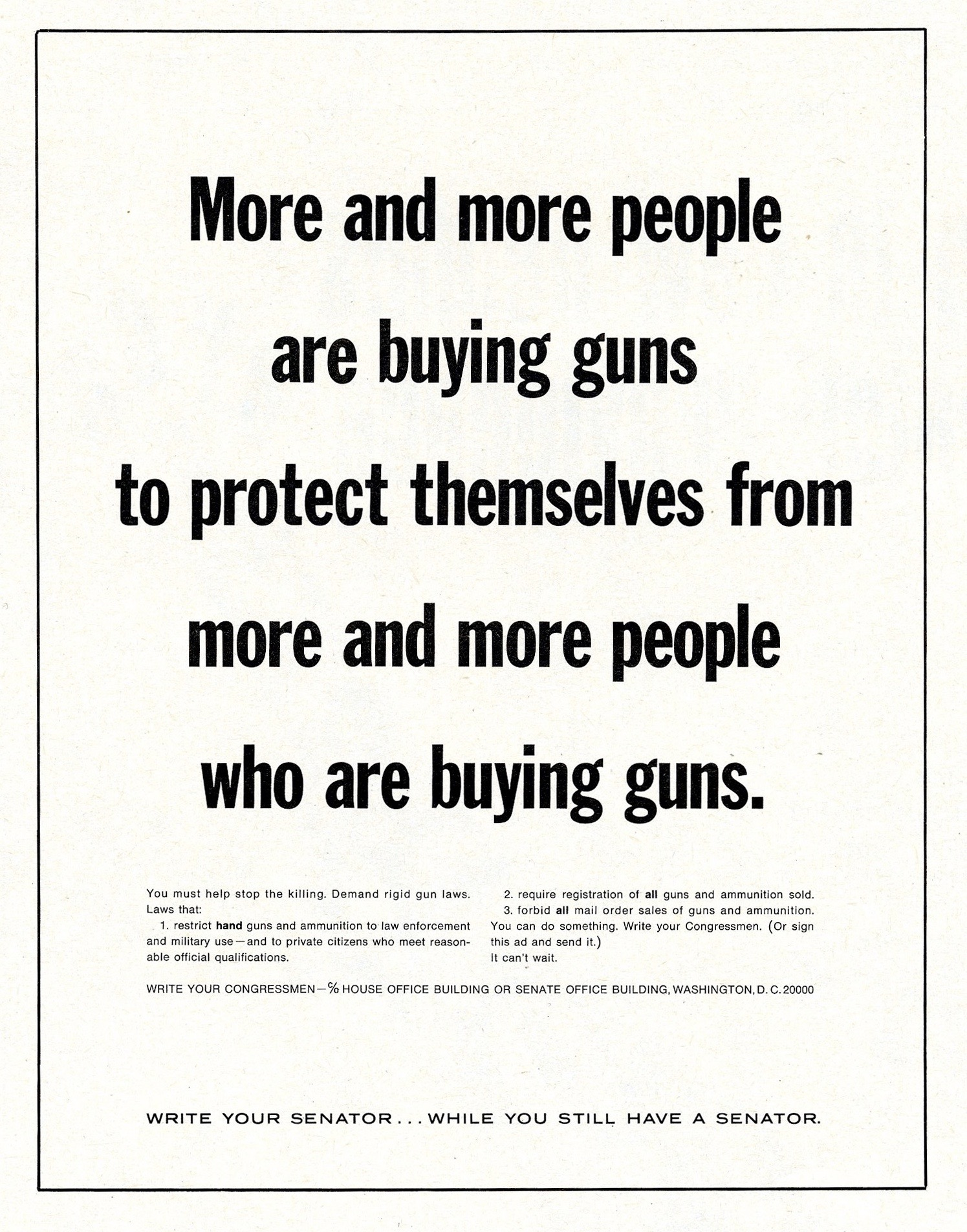 These Jolting Ads from 1968 Catalyzed the Modern Gun Debate
