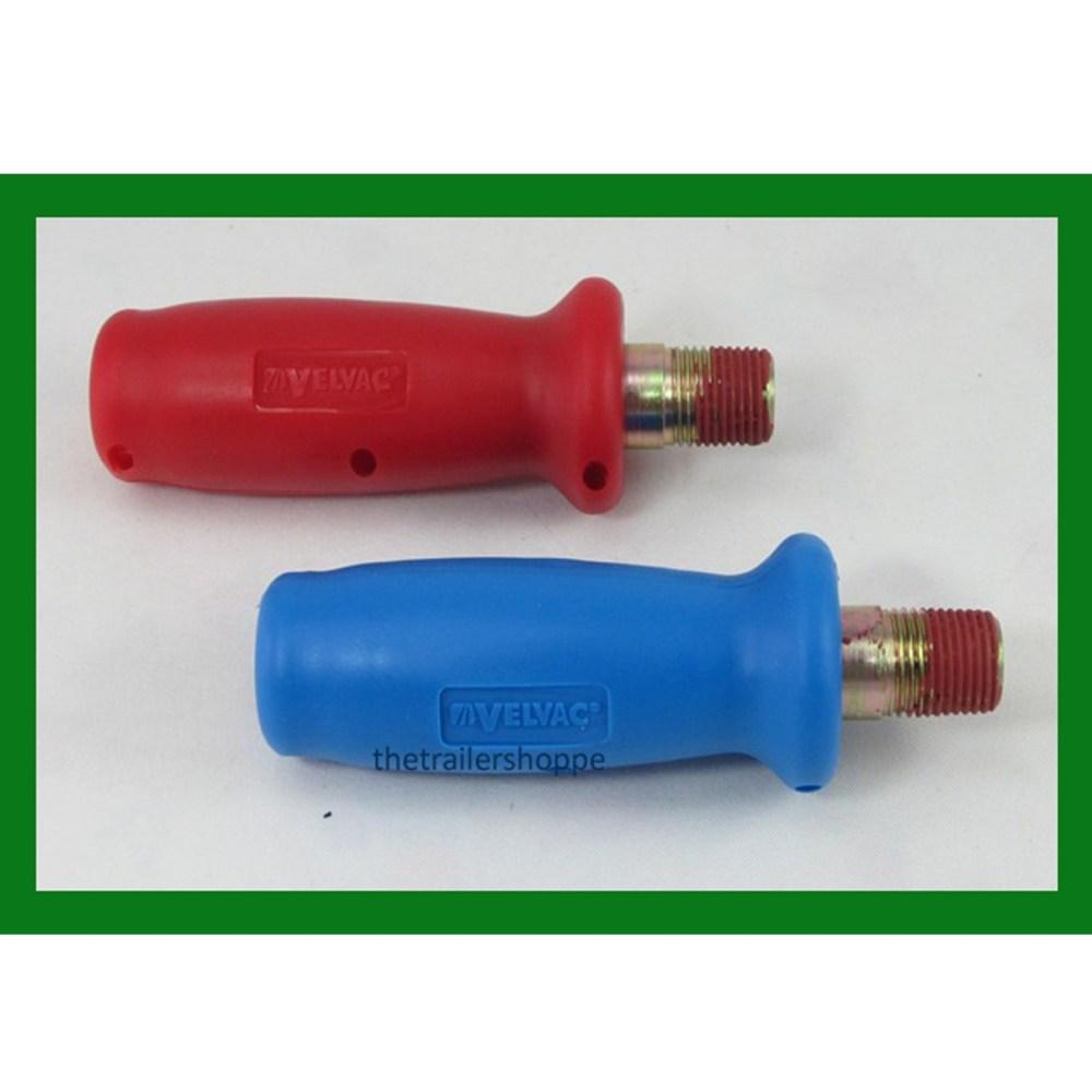 medium resolution of velvac gladhand grips air brake blue service red emergency