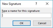 Create a signature in MS Outlook