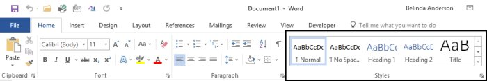 Introduction to Styles in Microsoft Word