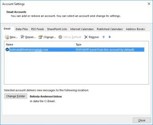 Outlook Mailbox Settings