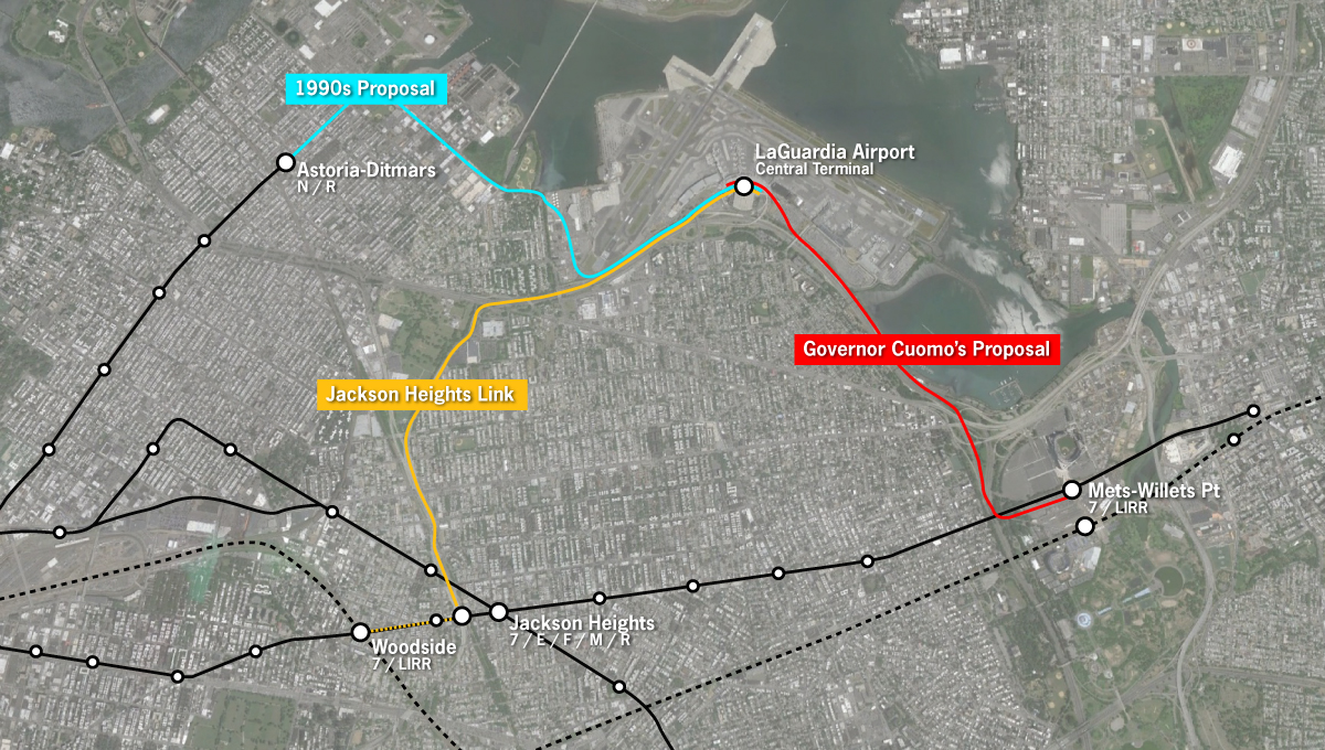 Airport New York Map.For Laguardia An Airtrain That Will Save Almost No One Any Time