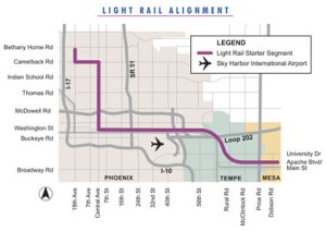 Phoenix Light Rail Map